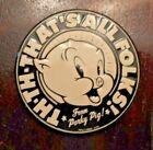 "Porky Pig collectible magnet That's All Folks souvenir 2 1/4"""
