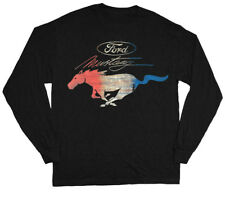 Big Men's Long Sleeve T-shirt Ford Mustang Pony tee shirt for men plus size