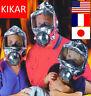KIKAR 60 Minutes Emergency Escape Hood Oxygen Mask w Hard Case Fire Smoke Filter