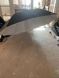 Large Black And White Calumet Photographic Studio Umbrella 140cm Diameter