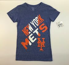 New York Mets Licensed MLB Girl's Size XL 16 Short Sleeve Tee Shirt NWT