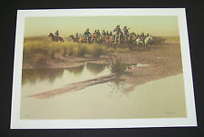"""Frank McCarthy Limited Edition Print """"Before the Charge"""" w/Original Folder"""