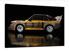 Audi S1 Quattro - 30x20 Inch Canvas Framed Picture Rally Print