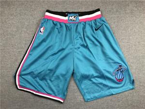 New Adult Size Blue Color Miami Heat Shorts S M L XL XXL