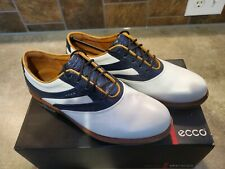 New Womans Ecco Golf Shoes Size Eur 37 Us 6 - 6.5 White and Marine