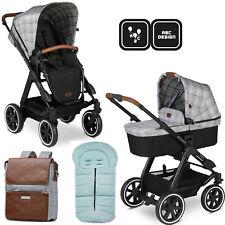 ABC Design Viper 4 Smaragd Kombi-Kinderwagen Set mit Wickelrucksack und Fußsack