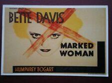 POSTCARD B40 ADVERT FILM POSTER FOR 'MARKED WOMEN' BETTE DAVIS