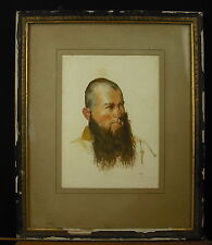 Aquarelle sur papier signature PG non-déterminée daté 1925 ? Watercolor on paper