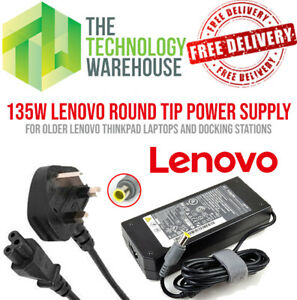 Genuine Lenovo 135w Charger PSU - Round 7.9mm*5.5mm - 20V 6.75A + Power Cable
