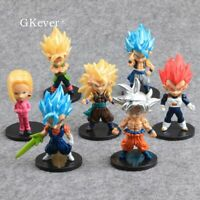 7pcs Dragon Ball Z Super Saiyan Son Goku PVC Action Figure Collectible Model Toy