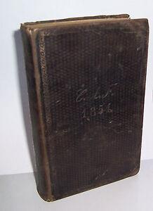 Dresdner Gesangsbuch auf höchsten Befehl 1853 Teubner Ledereinband !