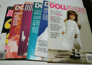 JOB LOT OF 6 DOLL READER MAGAZINES 1991 92 93 AND 3 X 1995 ISSUES