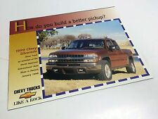 1999 Chevrolet Silverado Pickup Launch Information Sheet Brochure