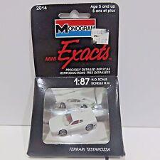 Monogram 1989 Mini Exacts Diecast Car Toy 1:87 Scale, FERRARI, New Unopened Pkg