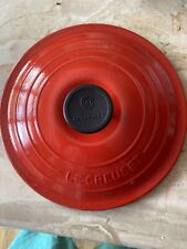 Le Creuset #20 Lid Red Cast Iron used