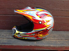 Cool Zeus Motocross Helmet with Visor and Storage Bag - Size Small