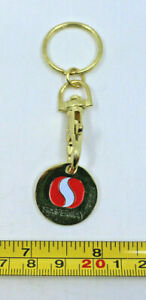 Safeway Grocery Store Supermarket Cart Coin Collectible Logo Keychain SA Gold