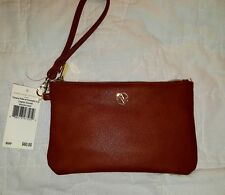 Adrienne Vittadini Charging Wallet Wristlet Power Bank USB Charger Brown $60 NWT