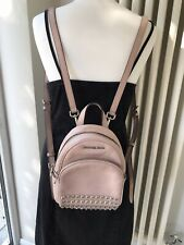 MICHAEL KORS ABBEY ABBY LEATHER MINI XS BACKPACK RUCKSACK BAG BABY PINK STUDDED!