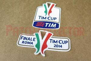 Italy TIM Cup 2014 final Fiorentina vs Napoli Sleeve Soccer Patch / Badge