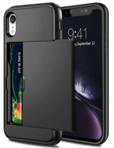 For iPhone 13 12 11 Pro Max XS XR Shockproof Card Holder Wallet Cover Case i05