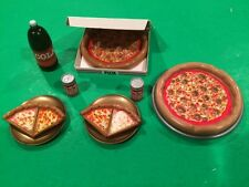 Barbie Doll Pizza Party Accessories Soda Miniatures Food For Diorama Display