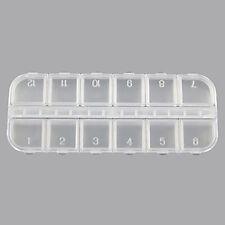 12 Fächer Nail Art Klar Boxen Sortierbox Aufbewahrungsdosen Fächerboxen Kasten