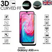 For Samsung Galaxy A50 (2019) 3D Tempered Glass LCD Screen Protector Black
