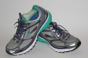 Brooks Ghost 7 G7 SofSole Women's Running Shoes Gray/Green/Purple Size 8.5 Wide
