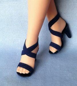 "NAVY BLUE  Doll Shoes Heels For Vintage 20"" Revlon & Cissy, Sue & 14R"