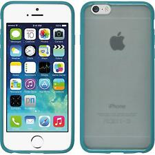 Hardcase Apple iPhone 6s / 6 Frame turquoise Cover + protective foils