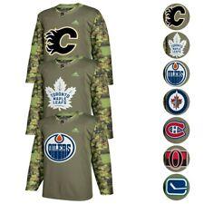 NHL Adidas para hombre Camo 2017-18 auténticas fuerzas armadas Camo práctica Jersey