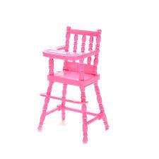 1 Pcs Mini Doll High Chair Plastic Feeding Chair for Barbie Doll Accessories MW