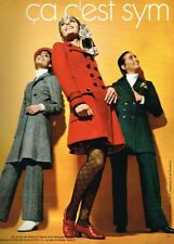Q- Publicité Advertising 1969 Pret à porter vetements SYM
