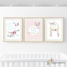 Girls Boho wall prints/Girls Nursery prints/Dreamcatcher wall prints/Wall art