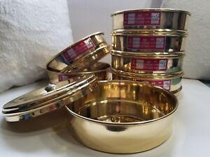 Heavy Brass Gauge Standard Testing Size 4 8 9 10 Sieve with Lid & Catch Pan