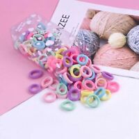 Hair Band Girl 100Pcs/SET Ponytail Holder Elastic Rope Ring Hairband Women Ties