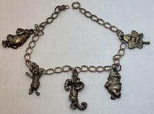 Vintage Disney Winnie The Pooh And Friends Sterling Silver Charm Bracelet