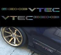 x2 vtec dohc sticker decalhonda holographic oil slick chome windshield