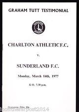 1976/77 CHARLTON ATHLETIC V SUNDERLAND 14-03-1977 Graham Tutt Testimonial