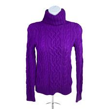 New listing Vintage Lauren Jeans Company Womens Purple Long Sleeve Turtleneck Sweater Sz Pp