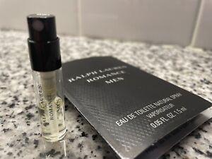 *Romance Men* Ralph Lauren -LOT OF (5) .05oz/1.5ml Carded Samples - all Sprays!