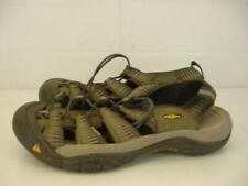 Mens 10 M Keen Newport H2 Waterproof Sport Sandals Slip-On Brown Tan Nyon Suede