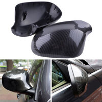 1 Pair Carbon Fiber Side Wing Mirror Cover Caps for BMW 3 Series E90 2009-2012