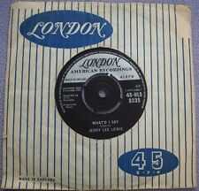 JERRY LEE LEWIS What'd I Say / Livin' Lovin' Wreck UK LONDON Rock and Roll 1st