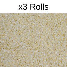 x3 Rolls Plain Wallpaper In Grey Sand Luxury Textured Vinyl Persian Collection
