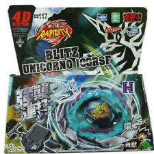 Blitz Unicorno Striker 4D Top Metal Fight Fury Beyblade BB-117 With Launcher NEW