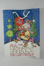 Mary Engelbreit Christmas All The Happiness Gift Bag Mint
