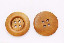 Big Brown Wooden Button 50mm 50pcs