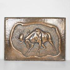 Kupferbild - Wandbild - Elch - Reliefbild - Kupferbild - alt - Vintage Copper